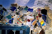 Israel, Tel Aviv, close-up of a mosaic on a wall