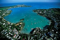 Mauritius, Grand Baie, aerial view