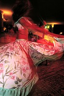 Mauritius, woman dancing the sega