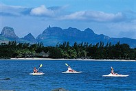 Mauritius, kayaking in the lagoon