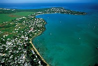 Mauritius, Grand Baie, arerial view