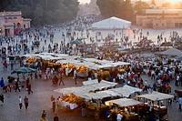 Djemaa el Fna square. Marrakesh, Morocco.