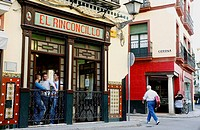 El Rinconcillo, Sevilles oldest tapas bar, Spain.
