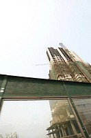 China, Guangdong Province, Guangzhou, high rise under construction