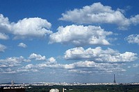 Cloudscape over Paris, France