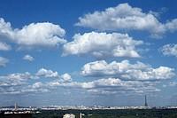 Cloudscape over Paris, France