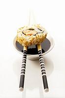Ura maki with soy sauce