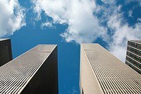 Corporate buildings piercing the sky
