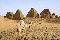 Ancient city of Meroë, on the east bank of the Nile. Sudan