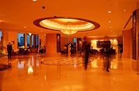 Lobby, of, Shangri-la, Hotel, Bangkok, Thailand