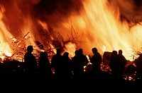 People, at, Easterfire, Wendland, Lower, Saxony, Germany