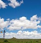 Windmill in an Open Landscape Scene  Karoo, Western Cape Province, South Africa