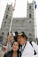 Canada, Montreal, Basilique Notre Dame, cathedral, church, Asian couple, man, woman, camera