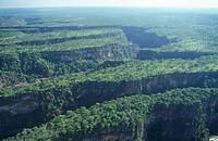 Batoka Gorge - Aerial View  Victoria Falls, Zambezi River, Zimbabwe