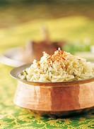 Hara Pulao,Rice with Green Herbs  Studio Shot