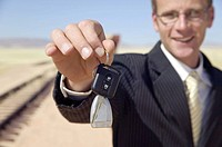 Businessman Holding Car Keys  Namibia