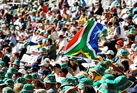 South African Cricket Supporters - Crowd Shot  Newlands Cricket Stadium, Cape Town, South Africa