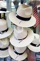 Panama hats, Madrid. Spain