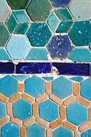 Ceramic tiles, Kokand, province of Ferghana, Uzbekistan