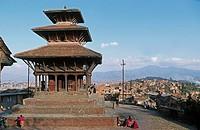 Nepal. Kirtipur. Sarashowati Temple