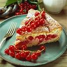 A piece of redcurrant cake