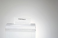 Contract in shredder