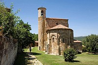 Collegiate church. San Martin de Elines. Cantabria. Spain.