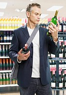 Man shopping for wine