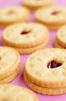 Jammie Dodgers Shortcake biscuits with raspberry jam, UK