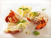 Lobster pieces with lemon mayonnaise