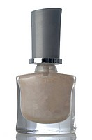 Bottle of beige nail polish