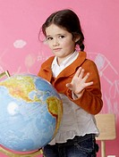 Girl with a globe (thumbnail)