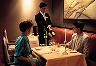Lifestyle, Young couple, Restaurant,