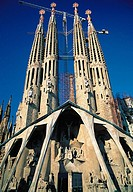 Spain, Barcelona, La Sagrada Familia, Cathedral, Gaudi architecture,