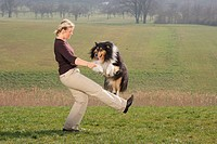woman and Collie - Dog Dancing