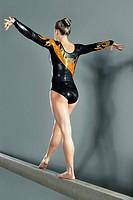 Gymnast on Balance Beam
