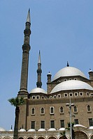 Egyptian landmark Mohammed Ali mosque (Alabaster mosque) on top of Saladin Al Aywbi citadel in Cairo. Egypt