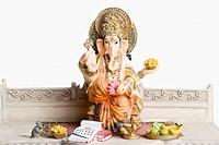 Close-up of the statue of God Ganesha