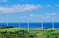 Wind Turbines on the Gulf Of Saint Lawrence, Cap-Chat, Quebec, Canada