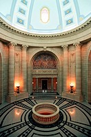 interior architecture of the Manitoba Legislature, Winnipeg, Manitoba, Canada