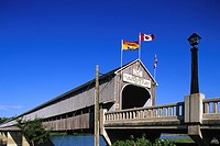 Word´s longest covered bridge in Hartland, New Brunswick, Canada