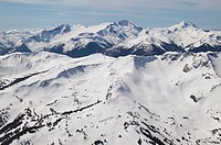 aerial of whistler mountain alpine and sub alpine, british columbia, Canada