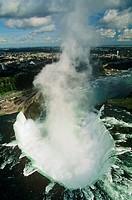 Aerial of Niagara Falls, Ontario, Canada