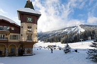 The village at Sun Peaks Ski Resort north of Kamloops, British Columbia, Canada