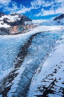 Coast mountain range, Klinaklini glacier meltwaters, British Columbia, Canada