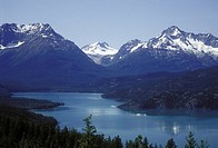 Tatlayoko Lake and Coast Mountains, Chilcotin region, British Columbia, Canada
