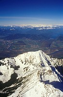 Aerial of Cheam Peak Chilliwack, British Columbia, Canada