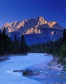 Kicking Horse River and Mount Hurd, Yoho National Park, British Columbia, Canada