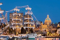 Tall ships festival, Victoria Inner Harbour, Vancouver Island, British Columbia, Canada