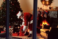 Santa Leaving Presents